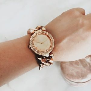 Accessories - Rose Gold Chain Link Watch